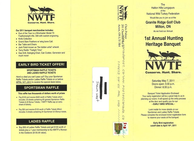 NWTF Hunting Heritage Banquet in the Halton Area