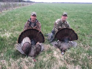 "Brian ""Tack"" Tackaberry (left) and Shawn West (right) with their Ontario longbeards."
