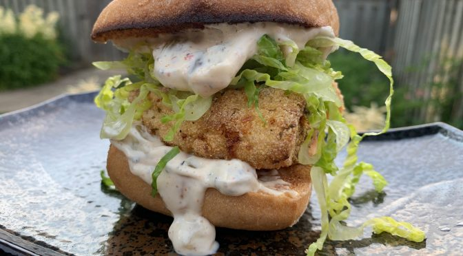 Fried Smallmouth Bass Burgers